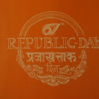 Republic Day Chalk Art