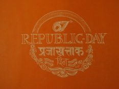 Chalk Art Republic Day