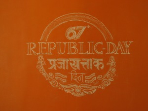 Chalk Art Republic Day