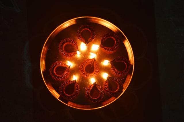 Rangoli from Diya lamps Zero Creativity Art of Rangoli