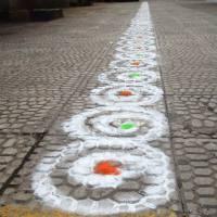 Sanskar Bharti Rangoli Designs- Curve
